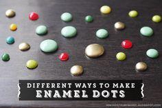 making enamel dots