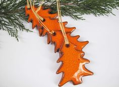 Christmas pottery ornaments or tags