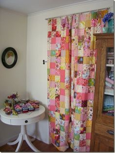 Patchwork curtains - Lily's room?