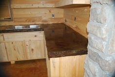 kitchen idea, color, kitchen countertops, stained concrete, stain concrete