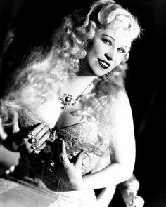 "Mae West in a publicity still for ""She Done Him Wrong"" (1933)"