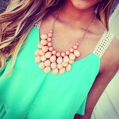 silhouett, mint green, statement necklaces, color, accessori, shirt