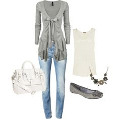 love this sweater jean, sweater, purs, style, bag, flat, outfit, bow, closet