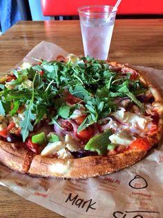 arugula veggie pizza healthi pizza, pizzas, food food, drink, veggi pizza, veggie pizza