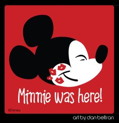 Minnie was Here! by Dan Beltran - Mickey Mouse