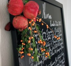 Learn how to #DIY a Thanksgiving menu on a chalkboard.