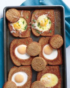 Baked Bull's-Eye Eggs Recipe