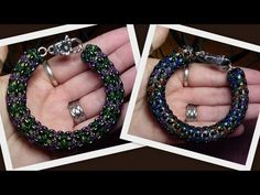 Twin bead Netted Spiral Photo Tute by HoneyBeads - simple project clearly shown in about 6 minutes.  #Seed #Bead #Tutorials