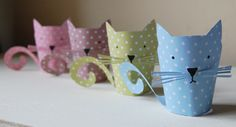 cupcakes, fingers, kitten craft, papers, kittens, papercraft paper, kid crafts, cat puppet, finger puppets