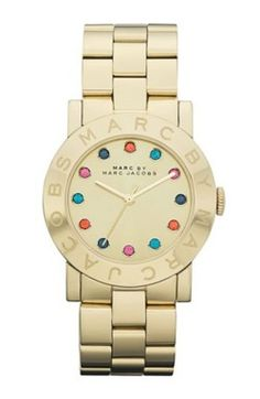 rose, fashion, style, accessori, watch, marc jacobs, jacob ami, jewelri, stainless steel