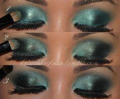 eye makeup, eye shadow, eyeshadow, colors, christmas, beauti, aqua, blues, black