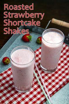 Roasted Strawberry Shortcake Shake