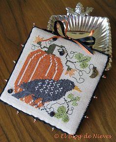 http://elblogdenievesmaria.blogspot.com.es/search?updated-min=2010-10-01T00:00:00+02:00 calabaza en, de niev, cross stitch, blog de, punto de cruz, el blog