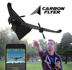 It is not really a drone (cause it can't stay still in a sky). However, it is a simple and effective flying design that need very little parts, thus cheaper.  Carbon Flyer: The Ultimate Crash Proof Video Drone | Indiegogo