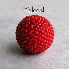 Beaded Bead Tutorial by The Crimson Moon on Etsy #beaded #bead #tutorial