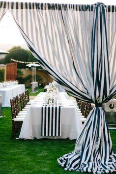 Striped Wedding Decor.