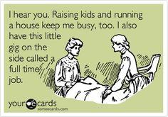 amen, raising kids, ecard, real life, work mom