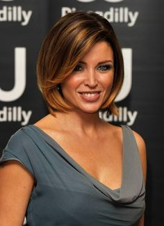 celebrity short haircut with bangs