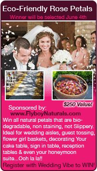 Wedding Sweepstakes - Win free rose petals in this giveaway for your wedding!