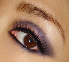 Makeup Tutorial: Purple Smoky Eye Makeup Look on http://makeupforlife.net