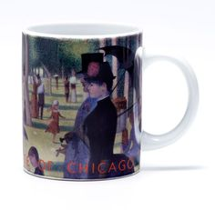 Seurats A Sunday on La Grande Jatte Mug, One of the most famous paintings at the Art Institute of Chicago.
