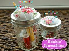 Easy to Make Hankie Pincushion Tutorial