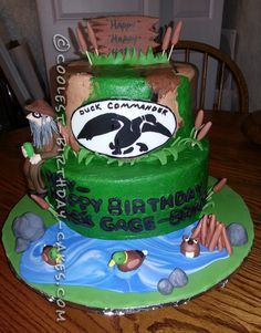 coolest birthday, command cake, duck commander, birthday idea, birthday cakes