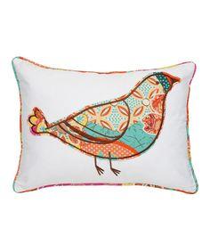 bird pillow, whimsic bird, free bird