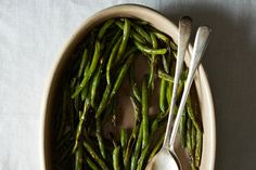 Potentially addicting beans... Penelope Casas' Garlic Green Beans