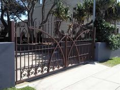 Wrought iron gates and fencing by Ironbark Blacksmithing