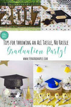 Tips to throwing an All Tassel, No Hassle Graduation Party #evite #graduationparty #partyideas #themedparties #party