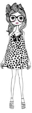 quirki girl, sister illustr, dilli foxtrot, quirky girl illustration, copic coloringimag, art thérapi, inspir piec, inspir illustr, foxtrot investig