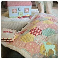 lovely little handmades: hexagon hand stitching