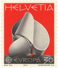 post stamp designed by Max Bill  #MaxBill