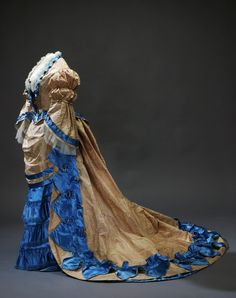 Dress, worn by Sofia of Nassau, Sweden, 1870's. Royal Armoury Collection, Sweden.