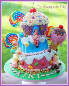 Candyland Themed Cake