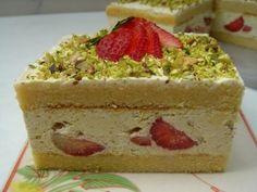 Pistachio Frasier Cake