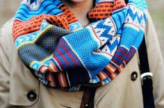 Pretty cute tribal infinity scarf fashion. . click on pic for more