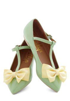 mint bow flats
