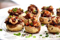 Pine Nut Stuffed Mushroom BiteSizeWellness.com