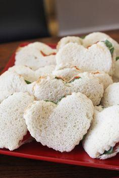 Raggedy Ann Party - Heart Sandwiches