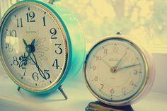 lovely old alarm clocks