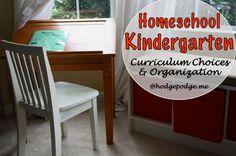 Homeschool Kindergarten: Curriculum Choices
