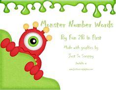 Monster number words