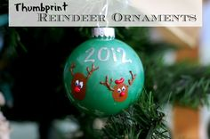 How to Make a Thumbprint Reindeer Ornament