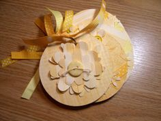Yellow Mini Flower Chipboard Scrapbook Album by HampshireRose, $20.00