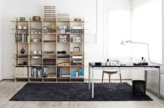 interior, office spaces, tact shelv, cleanses, shelving units