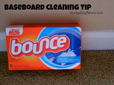 After drying my clothes save the dryer sheets and use them to go around your house and wipe down the baseboards. It is supposed to help cut down on dust coming back. It has worked for me! It makes cleaning my baseboards easier now. So save those dryer sheets and see if it helps on your cleaning