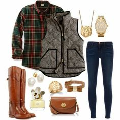 Monograms, Vests, And Plaid <3 preppy love