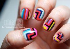 geometric colors nail polish, pattern, color, weight loss, nail designs, manicur, jil sander, nail arts, stripe